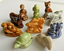 Complete set of Wade England Rose Tea Pet Shop Figurines - 10 total pieces
