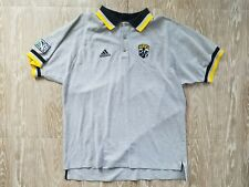 Adidas Mens The Crew Polo size XL MLS Soccer Short Sleeve Multicolor Gray Patch