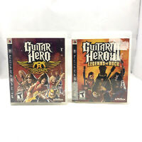 Guitar Hero 3 III: Legends of Rock & Aerosmith PlayStation 3 PS3 Game Lot Bundle