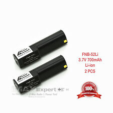 2 x NEW 3.7v 700mAh FNB-52Li Li-Ion Battery for Yaesu Vertex VX-1R Two-Way Radio