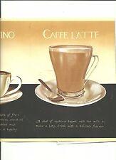 CAPPUCCINO, CAFFE LATTE, ESPRESSO, MOCHA COFFEE WALLPAPER BORDER   AW0706