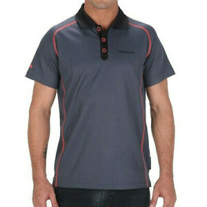 Adidas By Porsche Design Men's Sports Polo Shirt Speedster Men Grey/Blue Black