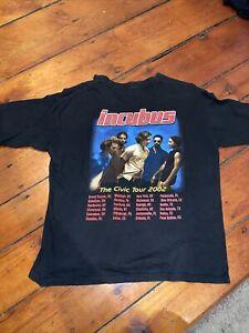 Vintage Retro Incubus 2002 The Civic Tour Concert T Shirt Sz. XL RARE