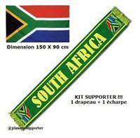 ECHARPE + DRAPEAU AFRIQUE DU SUD maillot fahne flag scarf schal sciarpa bufanda