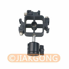 Triple Hot Shoe Mount Adapter Flash Stand Holder Bracket With Q29 Ball Head