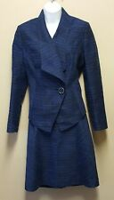 Mary Kay Twinhill 4P 6P Blue Tweed 2 pc Skirt Suit Blazer Jacket Consultant