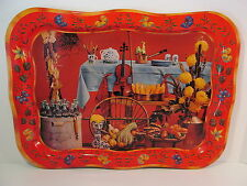 VINTAGE 1960'S COCA COLA COKE HARVEST THANKSGIVING ADVERTISING METAL TV TRAY