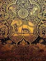 Painting Drawing Ornate Abstract Thailand Elephant Canvas Art Print