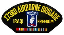 """173rd Airborne - Iraqi Freedom Embroidered Patch Auction (E30) 6""""x3"""" 92000"""