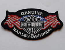 Harley Davidson Motorcycle Bikers Embroidered Sew/Iron On Patch Patches 12x6cm