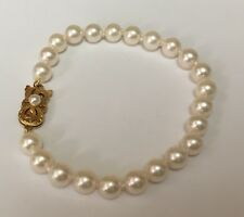 Mikimoto 6.5mm Pearl Bracelet With 18k Yellow Gold Clasp, AA Akoya Quality