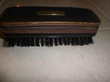 Vintage Men's  Clothing Brush w manicure zip compartment, bristle,W Germany