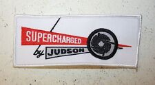 Supercharged by Judson patch applique sew iron on auto embroidered