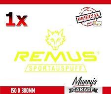 Remus Exhaust 150x380mm Aufkleber, Sticker, Autocollant, Étiquette Sportauspuff
