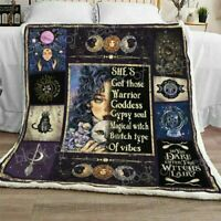 Fleece Blanket Made In Us Details about  /42 Years Of Halloween Quilt Blanket