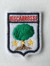 Old Vintage French Souvenir Patch BISCARROSSE  France Embroidered