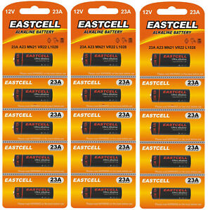 ☀️☀️☀️☀️☀️ 15 x 23A ( A23 MN21 VR22 L1028 ) 12V  Alkaline Batterie EASTCELL