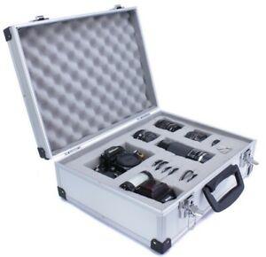 Premium Aluminium Koffer Case für Pentax Canon Nikon Sony Kameras (A-668)