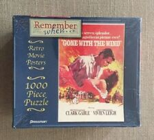 Pressman Retro Movie Posters 1000 Piece Puzzle ~ Gone With The Wind ~ New/Sealed