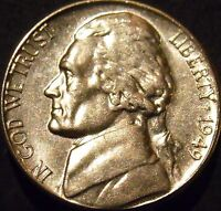 1949-S Jefferson Nickel Choice/Gem BU Uncirculated