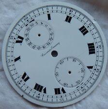 Chronometro Escasany Chronograph Pocket Watch enamel dial 45 mm. in diameter