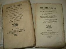 COMTE GORANI RECHERCHES  SCIENCE GOUVERNEMENT 1792 EO PHYSIOCRATE REVOLUTION 2/2