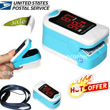 Free Pouch&Lanyard Finger Pulse Oximeter Blood Oxygen SpO2 Monitor US Warehouse