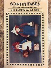 "Wood Craft Pattern "" Raggedy Ann & Andy"""
