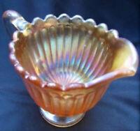 Antique Vintage Carnival Glass Art Nouveau Creamer Pitcher Tea Coffee 1910 Gold