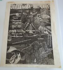 JEFFERSON AIRPLANE PORTLAND ZOO BULLFROG ROCK FESTIVAL HANDBILL OREGON 1969