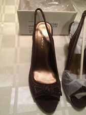 Dolcis Shoes, Brown suede leather, Bo Peep, Bow Trim Peep Slingbacks, size 5