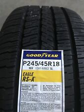 2454518 245/45R18 Goodyear Eagle RSA Blk 96V New Tire - Qty 4