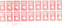 1971 STRIKE MAIL TWO PENCE COMMEMORATIVES IN FULL IMPERFORATE SHEET OF 18 MNH
