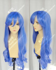 Fairy Tail Juvia Lockser Long Blue Anime Costume Cosplay Wig +Track number +CAP