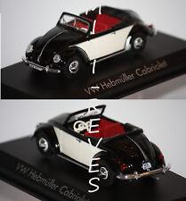 Norev Volkswagen Hebmüller Cabriolet noir/beige 1949 1/43 840014