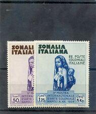 ITALIAN SOMALILAND Sc 167,169(MI 200,202)*F-VF LH 1934 50c, 1L25c, $20