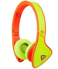 Monster DNA Headband  On-Ear Wired Headphones Neon Yellow Orange New Sealed