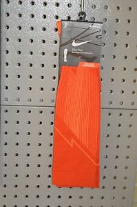 New $50 Nike Elite Graduated Compression Running Socks Orange M 6-7.5/ W 7.5-9