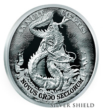 2017 Dollar Dragon Proof - Silver Shield - #3 of Death of Dollar Series - Rare
