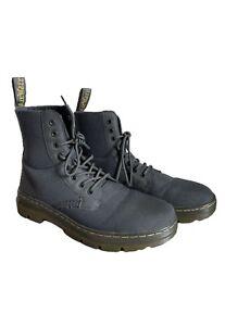 Dr. Martens Combs Gray Nylon Combat Boots Mens - Size 11