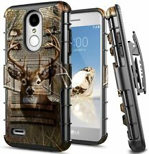 For LG Rebel 3/Fortune 2/Zone 4 Holster Case Belt Clip Kickstand Phone Cover