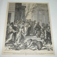 1879 magazine engraving ~ BURNING THE MAGICAL BOOKS AT EPHESUS