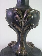 Lampenfuss/altarvase en estilo barroco de madera tallada
