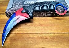 TACTICAL CS GO KARAMBIT KNIFE SURVIVAL HUNTING BOWIE FIXED BLADE DOPPL R PHASE 2