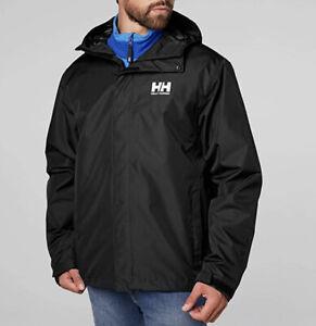 NWOT Helly Hansen Men's Seven J Rain Jacket Black Size 2XL