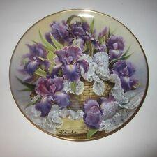 Mogambo Iris Plate by Katharine Austen Franklin Mint Princess Grace Foundation