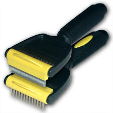 Hair-raiser 60 dog and cat de-shedding stripping grooming flip-head brush comb