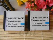 2X Batería Para KLIC - 7001 KODAK EASYSHARE MX1063 MD41 M340 M341 Zoom Digital