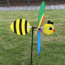 Bee Windmill Wind Spinner Garden Yard Decor 3d Whirligig Animal Home Lawn Kids