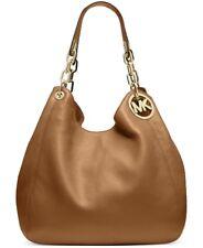 NWT MICHAEL Kors Fulton Leather Large Shoulder Bag Tote Hobo ACORN ~MSRP$398